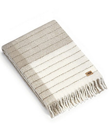 UGG® Lucia Plaid Fringed Throw