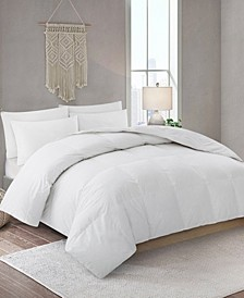 Lightweight Down Fiber Comforter with Cotton Cover, King