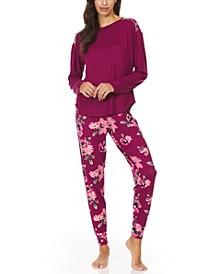 Christian Siriano Women's La Praz Hacci Knit Jogger Pyjama Set