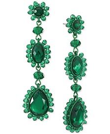 INC Crystal & Bead Color-Coated Linear Drop Earrings, Created for Macy's