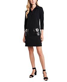 Grommet-Pocket A-Line Dress