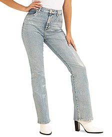Sky High Distressed Bootcut Jeans