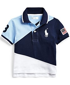 Ralph Lauren Baby Boys Big Pony Cotton Mesh Polo T-Shirt