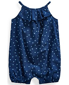 Ralph Lauren Baby Girls Star-Print Bubble Shortall
