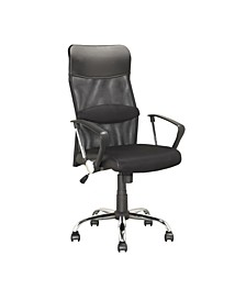Executive Office Chair in Leatherette and Mesh