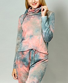 Women's Tie Dye Built-In Gaiter Top