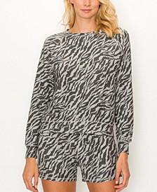 Women's Zebra French Terry Raglan Sweatshirt