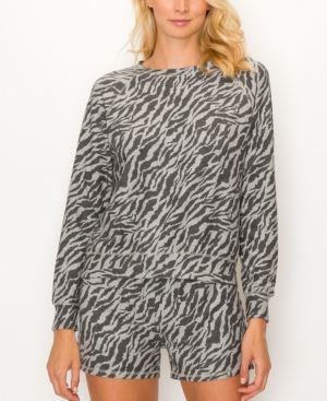 1804 Women's Zebra French Terry Raglan Sweatshirt