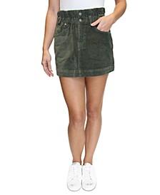 Crave Fame Juniors' Corduroy Paperbag Skirt