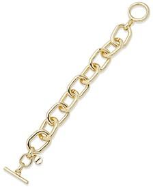 Gold-Tone Chain-Link Flex Bracelet