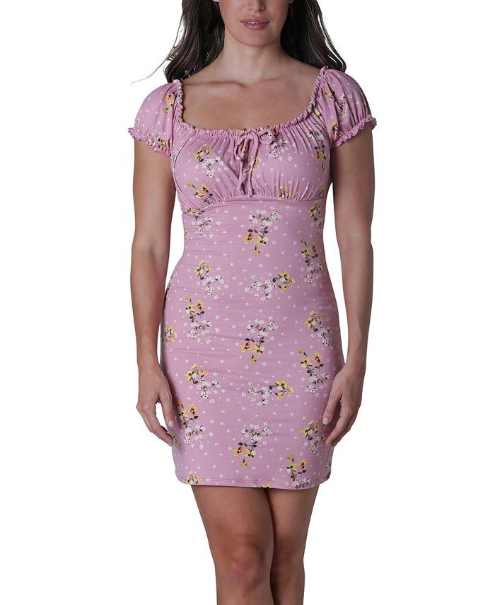 Ultra Flirt - Juniors' Emma Ruched Slim Dress