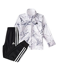 Baby Boys Zip Front Camo Tricot Jacket and Jogger Pants Set