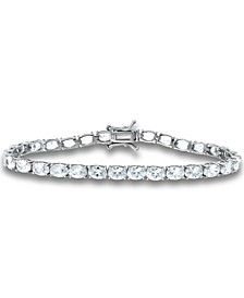 Cubic Zirconia Oval-Cut Tennis Bracelet in Sterling Silver, Created for Macy's