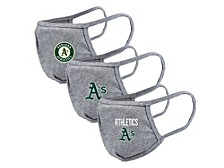 "Level Wear Oakland Athletics 3pack ""Guard 2"" Face Covering"