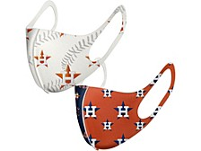 Houston Astros 2-Pack Bonded Colorblocked Mask Face Coverings