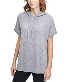 Hooded Short-Sleeve Sweater