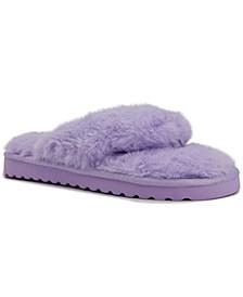 Women's Hurry Fuzzy Flip Flop Slippers