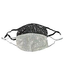 Big Girls Disco Dot Sparkle Mask, Pack of 2