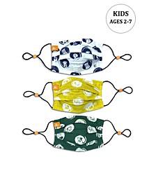 x Best Friends Unisex Kids Dog Sketch Pleated Reversible Mask, 3 Pack