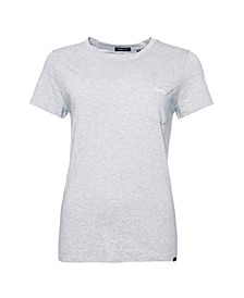 Women's Organic Cotton Scripted Crew Neck T-Shirt