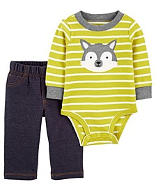 Carters Baby Boy 2-Piece Husky Bodysuit Pant Set