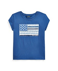 Big Girls Floral Flag Jersey Tee