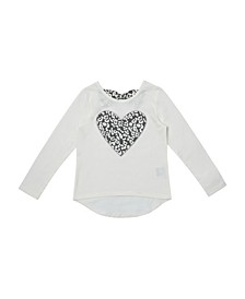 Toddler Girls Long Sleeve Graphic High-Low Tee