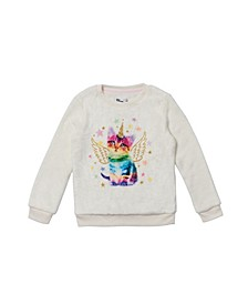 Toddler Girls Long Sleeve Graphic Minky Pullover