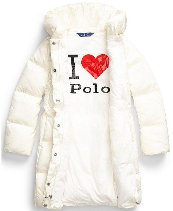 Polo Ralph Lauren Big Girls Quilted Hooded Down Coat