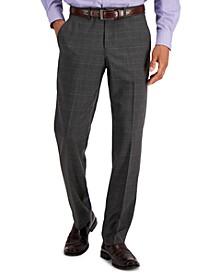 Men's Modern-Fit Subtle Check Performance Dress Pants
