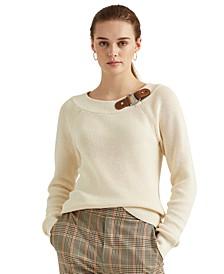 Cotton Ballet-Neck Sweater