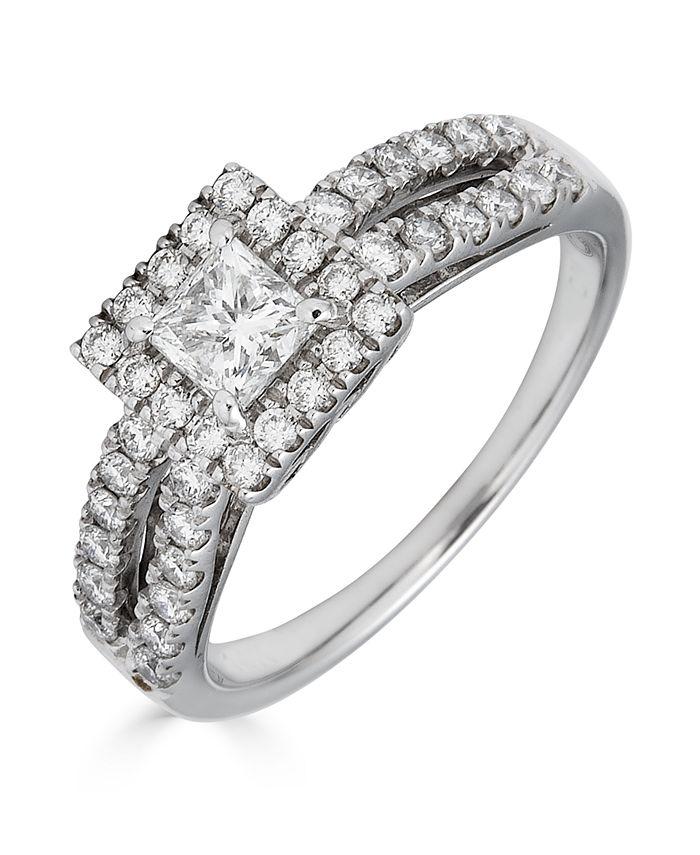 Macy's - Diamond Princess Cut (1 ct. t.w.) Ring in 14K White Gold