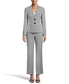 Crossdye Two-Button Pantsuit