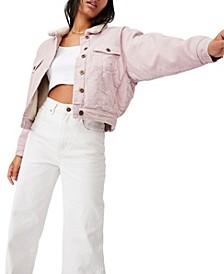 Women's Shearling Cord Trucker Jacket