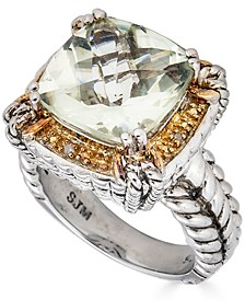 Citrine (6-1/2 ct. t.w.) & Diamond Accent Ring in Sterling Silver (Also in Green Quartz & Smoky Quartz)