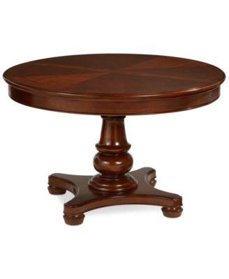 Bordeaux Pedestal Round Expandable Dining Table Furniture Macys