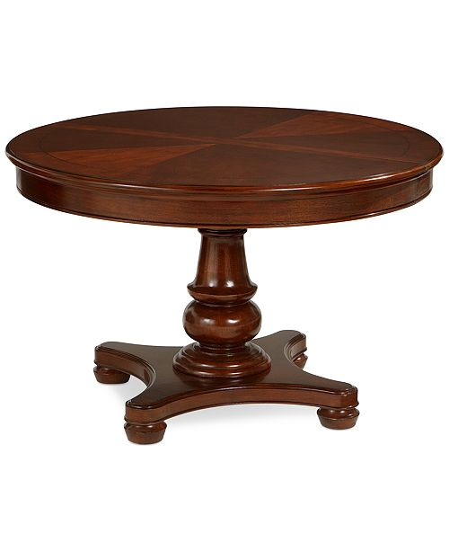 Furniture Bordeaux Pedestal Round Expandable Dining Table