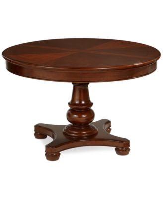 Beautiful Bordeaux Pedestal Round Expandable Dining Table