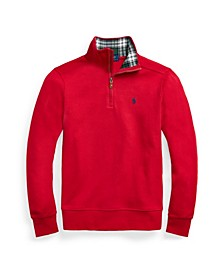 Big Boys Interlock Quarter Zip Pullover Sweatshirt
