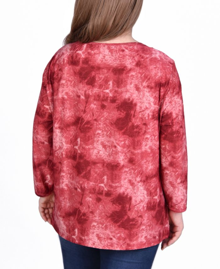 NY Collection Women's Plus Size Long Sleeve Tunic & Reviews - Women - Macy's