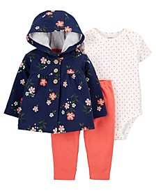 Baby Girls 3-Piece Floral Little Cardigan Set