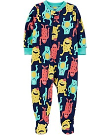Baby Boys 1-Piece Monster Fleece Footie PJs