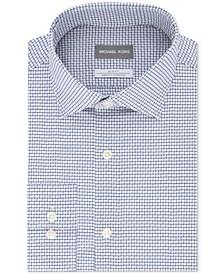 Men's Slim-Fit Non-Iron Airsoft Performance Stretch Check Dress Shirt