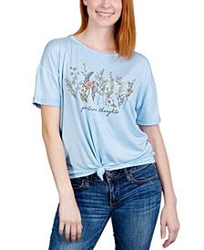 Juniors' Positive Thoughts Graphic T-Shirt