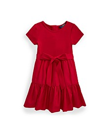 Toddler Girls Tiered Stretch Interlock Dress