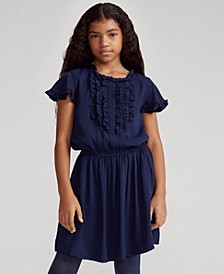 Big Girls Ruffled Crepe Dress