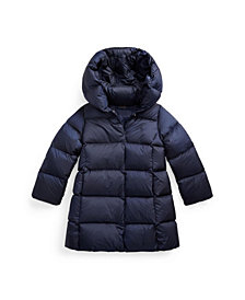 Toddler Girls Quilted Hooded Down Coat