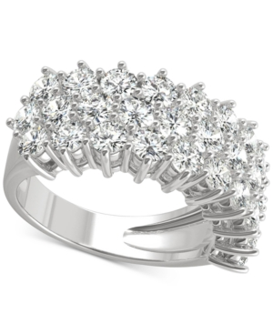 Moissanite Triple Row Band (3 ct. t.w. Dew) in 14k White Gold