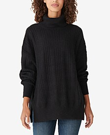 Textured Stitch Turtleneck Sweater