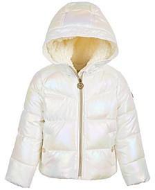 Toddler Girls Unicorn Iridescent Puffer Coat